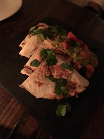 Quesadillas at Lamucca de Pez.