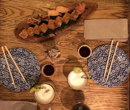 Sushi at Sushita Café.