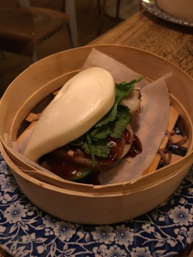 Pork bun at Sushita Café.